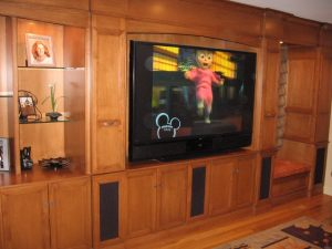 Custom Built Cabinets With A Rear Projection DLP TV