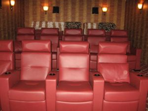 Home Theater Seating; The Danshvar Residence Briacliff Manor, N.Y.
