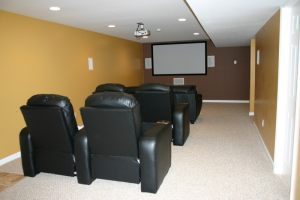 Home Theater; The Tassone Residence (After) Plesant Valley, N.Y.